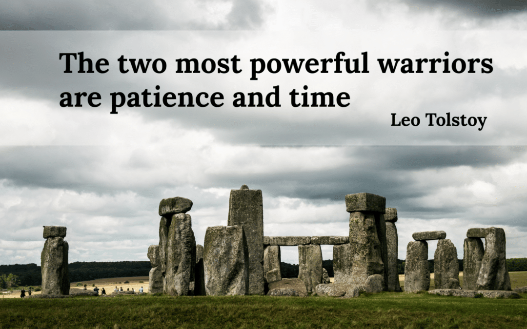 Is patience your key to moving ahead?