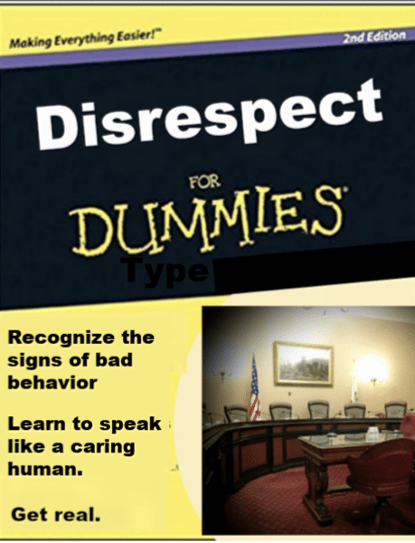 The Dummies Guide to Disrespect (15 tips)