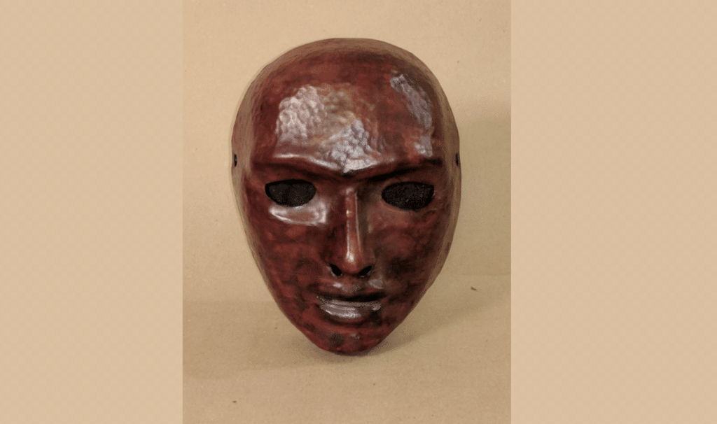 Neutral mask crafted by Pepper Kaminoff